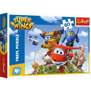 PUZZLE 60 TREFL SUPER WINGS LOT DOOKOŁA ŚWIATA