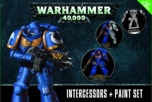 WARHAMMER 40.000 INTERCESSORS + PAINT SET