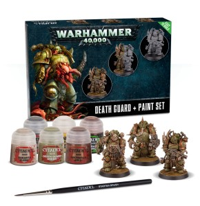 WARHAMMER 40.000 DEATH GUARD + PAINT SET