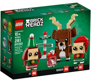 LEGO BRICK HEADZ 40353 RENIFER, ELF I ELFKA