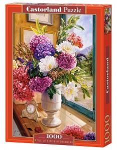 PUZZLE 1000 CASTORLAND STILL LIFE WITH HYDRANGEARS
