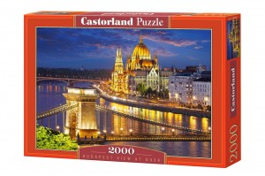 PUZZLE 2000 CASTORLAND BUDAPEST VIEW AT DUSK