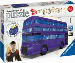 PUZZLE 3D 216 RAVENSBURGER HARRY POTTER AUTOBUS
