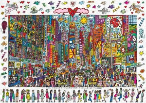 PUZZLE 1000 RAVENSBURGER JAMES RIZZI TIME SQUARE