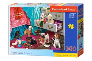 PUZZLE 300 CASTORLAND PUPPIES IN THE BEDROOM