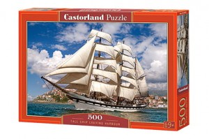 PUZZLE 500 CASTORLAND TALL SHIP LEAVING HARBOUR