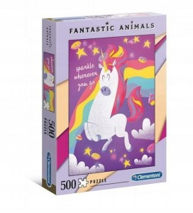 PUZZLE 500 CLEMENTONI FANTASTIC ANIMALS UNICORN