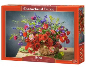 PUZZLE 500 CASTORLAND BOUQUET WITH POPPIES