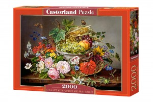 PUZZLE 2000 CASTORLAND STILL LIFE WITH FLOWERS