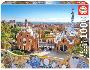 PUZZLE 1000 EDUCA PARK GUELL, BARCELONA