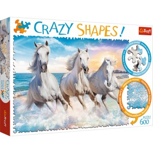PUZZLE 600 TREFL CRAZY SHAPES. GALOP WŚRÓD FAL
