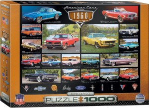 PUZZLE 1000 EUROGRAPHICS AMERICAN CARS OF THE 1960