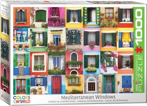 PUZZLE 1000 EUROGRAPHICS MEDITERRANEAN WINDOWS