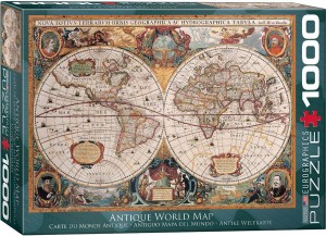 PUZZLE 1000 EUROGRAPHICS ANTIQUE WORLD MAP ORBIS
