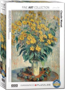 PUZZLE 1000 EUROGRAPHICS C.MONET JERUSALEM FLOWERS