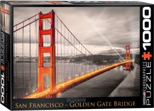 PUZZLE 1000 EUROGRAPHICS SAN FRANCISKO GOLDEN GATE