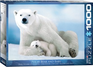 PUZZLE 1000 EUROGRAPHICS POLAR BEAR AND BABY