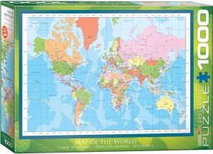 PUZZLE 1000 EUROGRAPHICS MAP OF THE WORLD