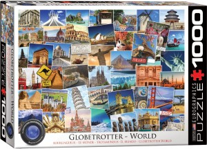PUZZLE 1000 EUROGRAPHICS GLOBETROTTER - WORLD