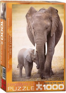PUZZLE 1000 EUROGRAPHICS ELEPHANT AND BABY