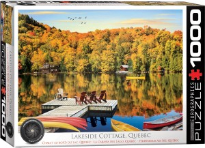 PUZZLE 1000 EUROGRAPHICS LAKESIDE COTTAGE, QUEBEC