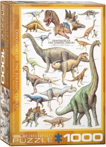 PUZZLE 1000 EUROGRAPHICS DINOSAURS OF THE JURASSIC