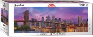 PUZZLE 1000 EUROGRAPHICS PANORAMA BROOKLYN BRIDGE