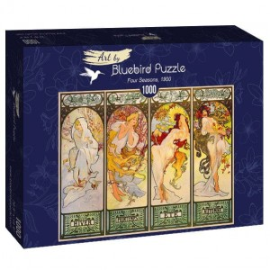 PUZZLE 1000 BLUEBIRD ALFONS MUCHA FOUR SEASONS