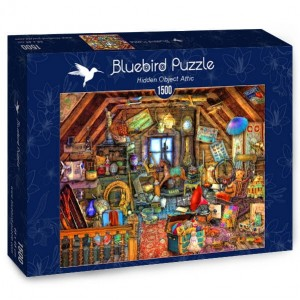 PUZZLE 1500 BLUEBIRD A.STEWART HIDDEN OBJECT ATTIC