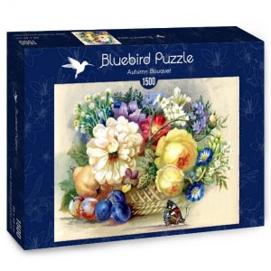 PUZZLE 1500 BLUEBIRD AUTUMN BOUQUET