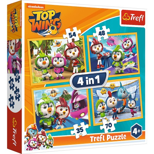 PUZZLE 4W1 35,48,54,70 TREFL TOP WING  -12731